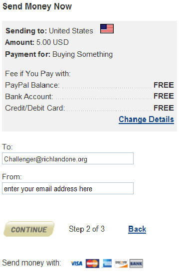 create your account and select next